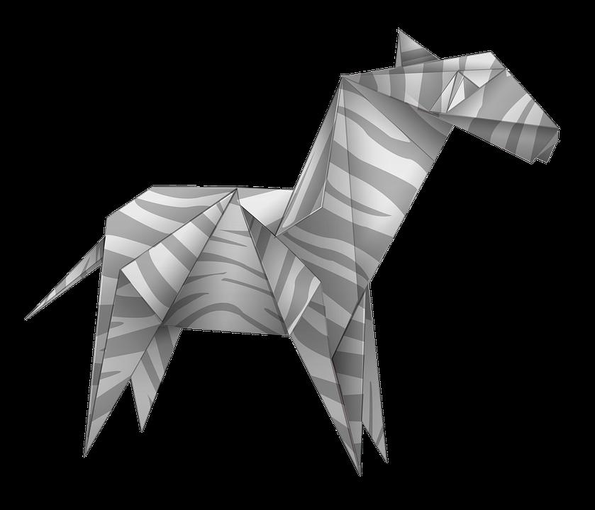 Origami Zebra Black And White Free Image On Pixabay