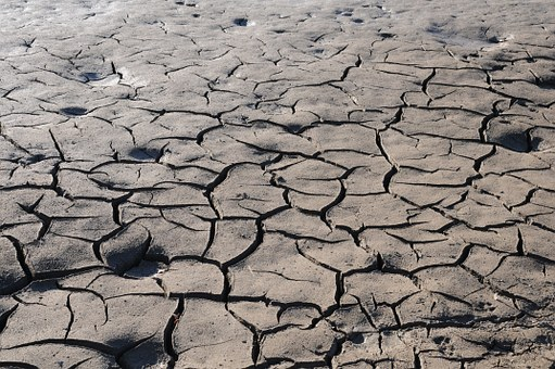 Earth Drought Cracked Dehydrated Ground Na