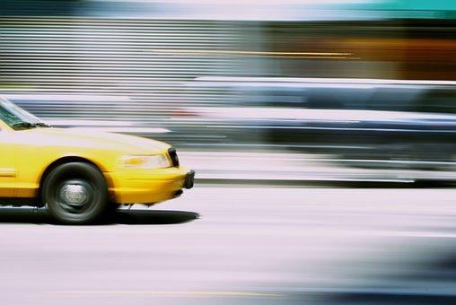 Taxi Movimiento Urbana Transporte Calle El