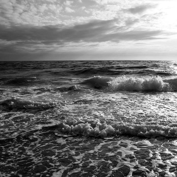 Mare Onda In Bianco E Nero Foto Gratis Su Pixabay