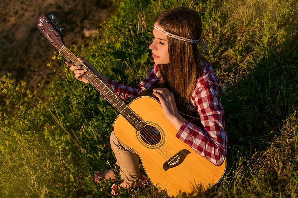 Girl, Guitar, Summer, Melody, Musical, Music