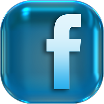 Icons, Symbols, Facebook, Button