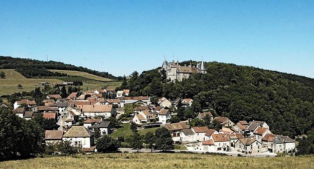 Village Ville Château Fort La Rochepot Bou