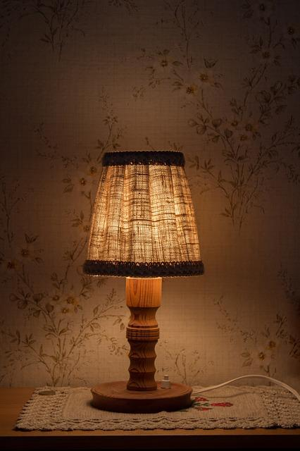 free photo night table lamp light free image on. Black Bedroom Furniture Sets. Home Design Ideas
