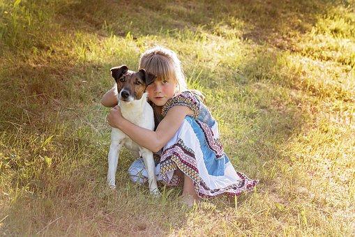 Person, Human, Child, Girl, Dog, Animal