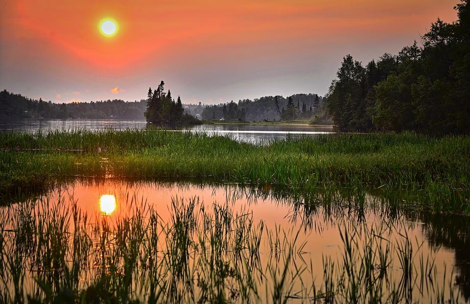 lac coucher de soleil - photo #30