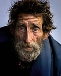 homeless, man, color