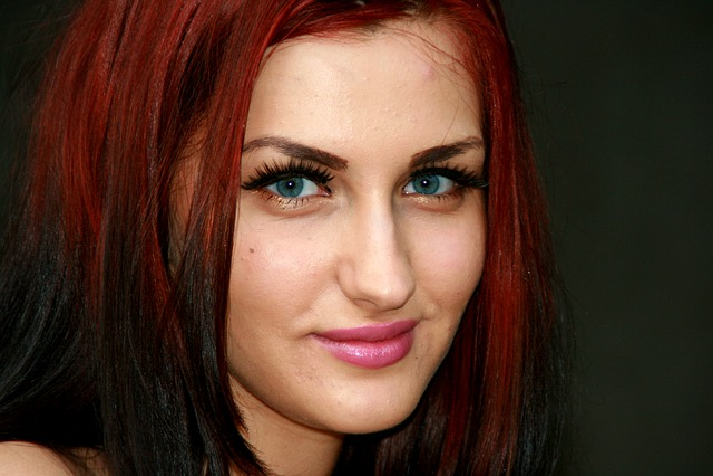 Girl Seduction Red Hair Blue 183 Free Photo On Pixabay
