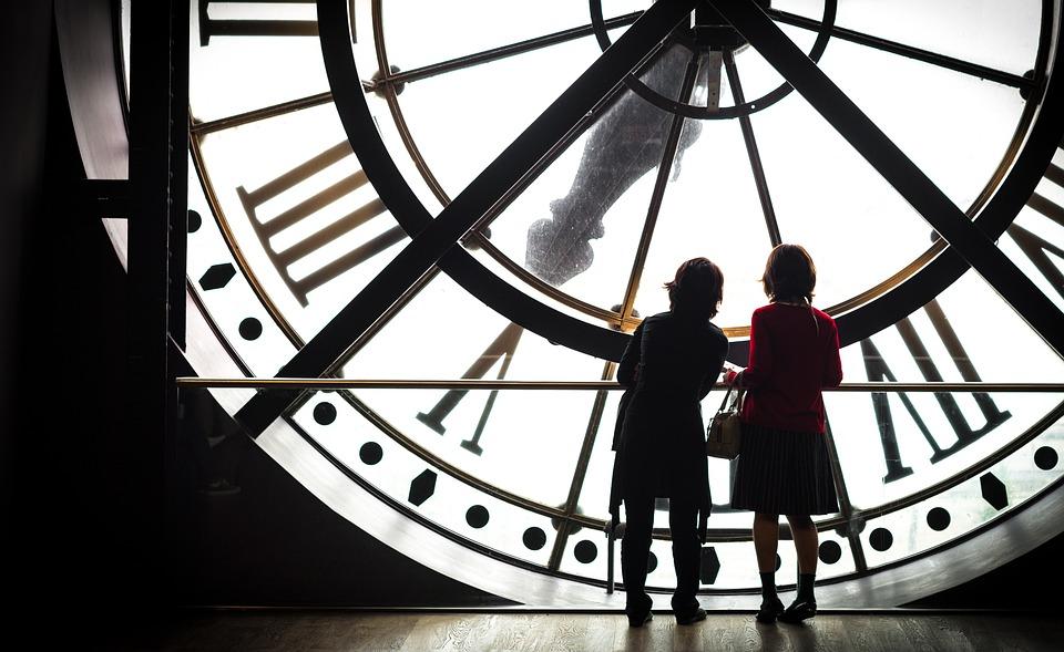 Parigi, Museo, Orsay, Orologio, Donne, Persone, Numeri