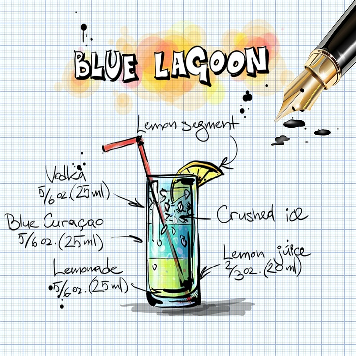 Blue lagoon cocktail rezept  Kostenlose Illustration: Blue Lagoon, Cocktail, Getränk ...