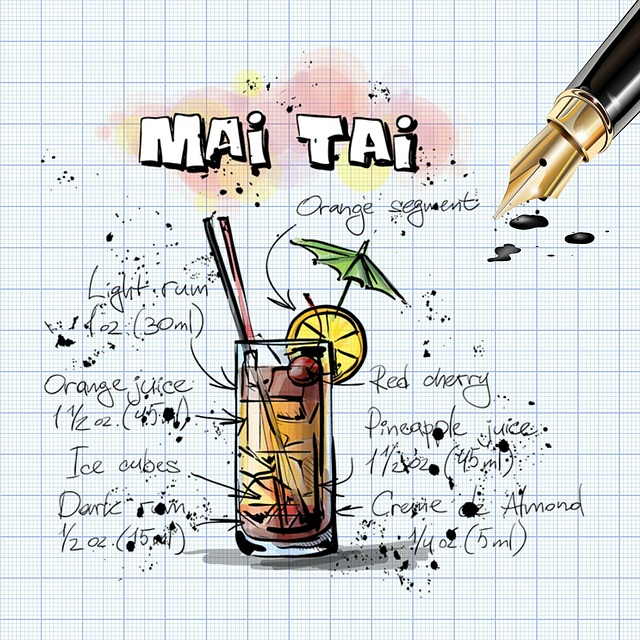 free illustration mai tai cocktail drink alcohol