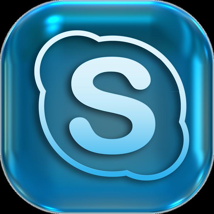 Icônes, Symboles, Skype, Bouton, Mettre En Marche