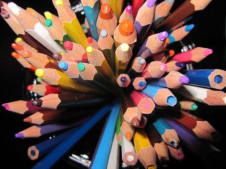 ดินสอ, สี, หัก, สินค้ามือสอง