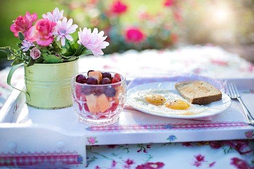 朝食, 揚げ卵, 食事, 卵, 食品, プレート, 健康, トースト, おいしい