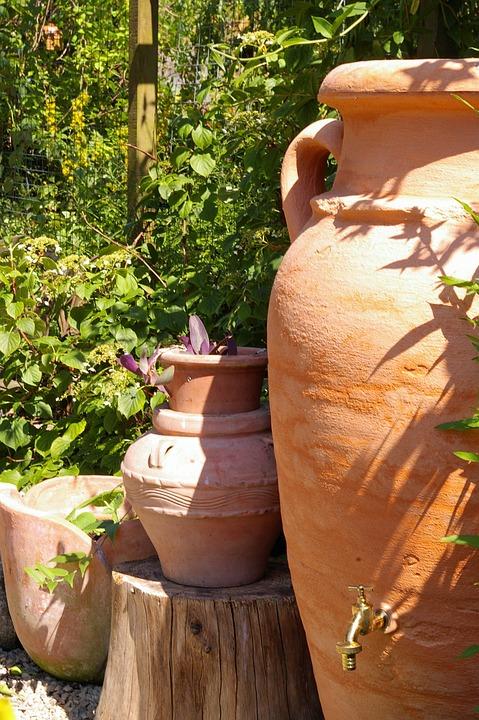 Kostenloses foto mediterran amphore garten for Gartengestaltung mediterran