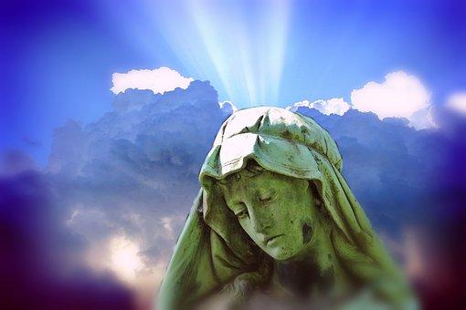 Woman, Madonna, Sculpture, Statue