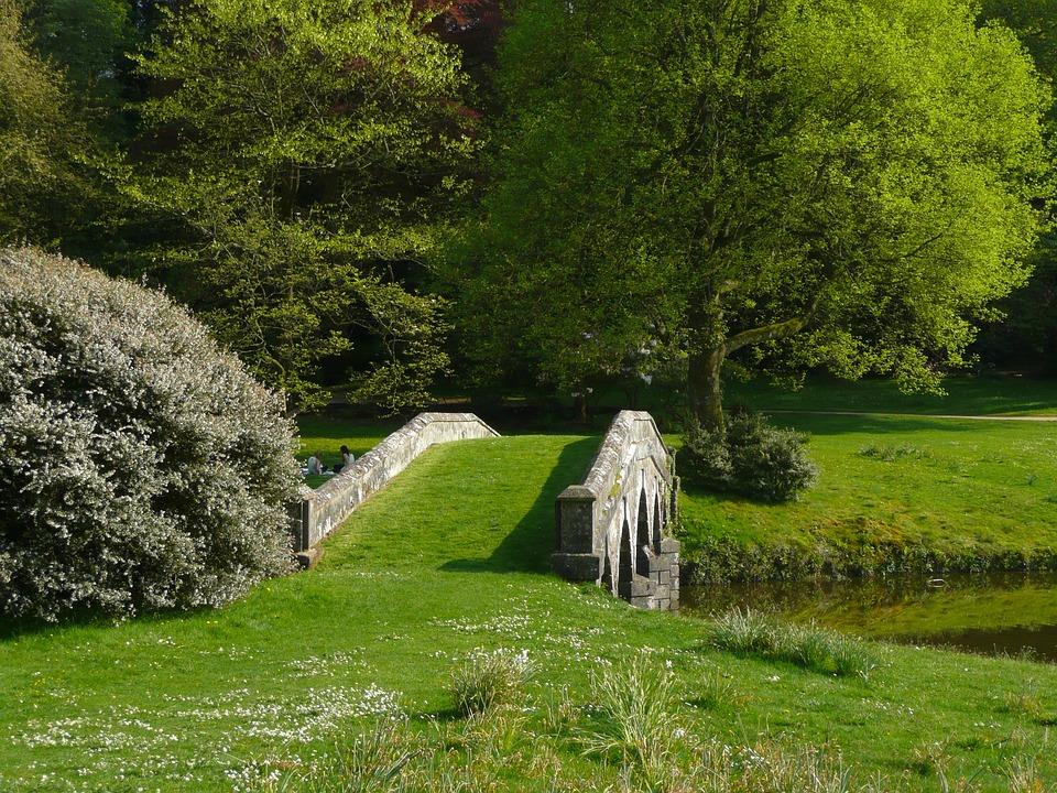 Free Photo Stourhead Garden Bridge Lawn Free Image On