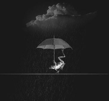 Weatherman rain wet water rainstorm screen