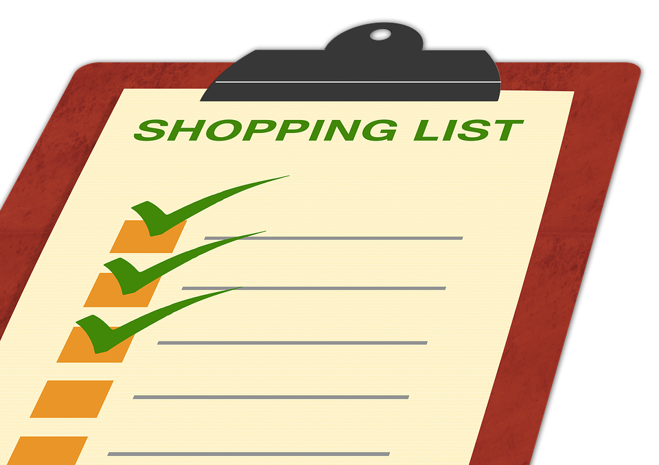 list shopping list board clip check off hook done