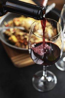 Wine, Red, Bottle, Drink, Glass, Dinner