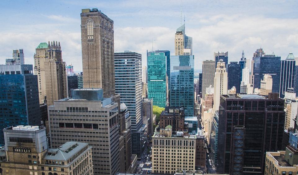nueva york rascacielos edificios ciudad