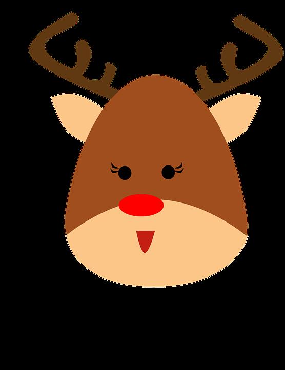 reno animales cuernos navidad dibujos animados