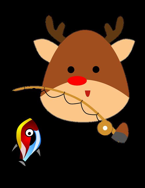 reno dibujos animados navidad carcter feliz