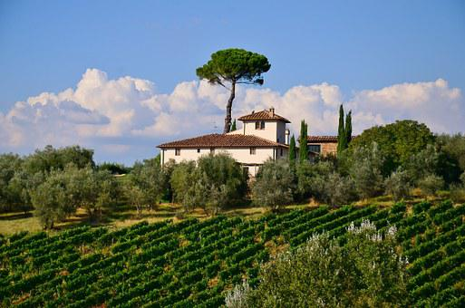 Tuscany, Villa, Italian, Nature