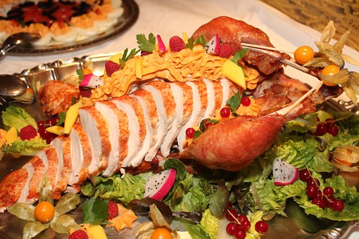 Turkey, Carving, Buffet, Salad