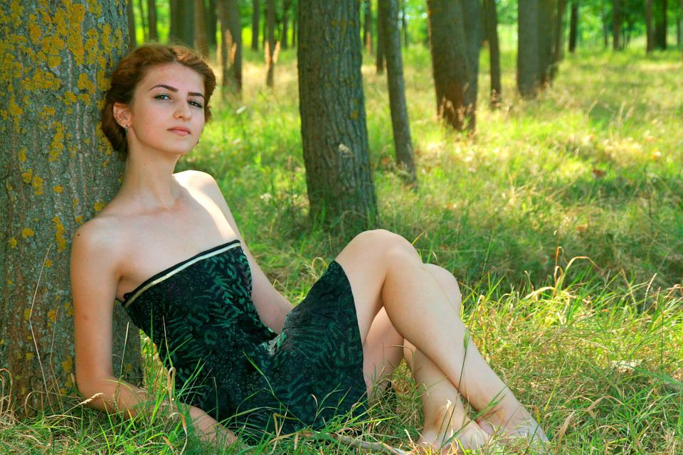 free photo girl forest beauty nature green   free