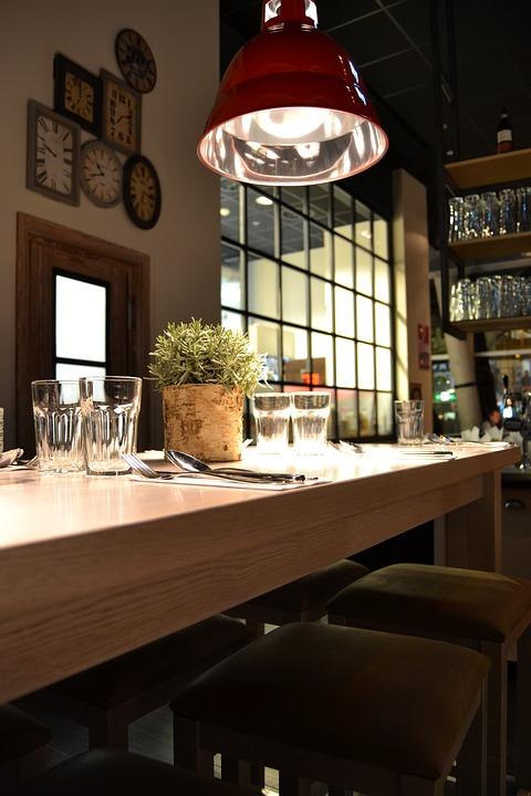 무료 사진: 레스토랑, 인테리어, 산업 디자인, 높은 테이블, 역학 ...