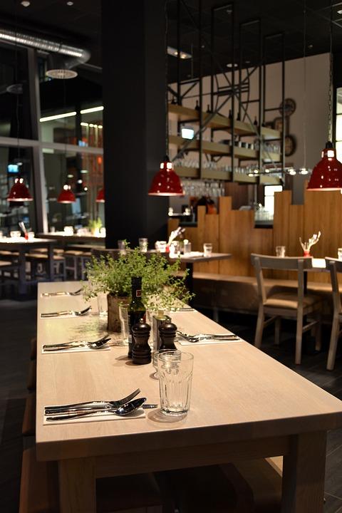 Free photo restaurant interior wood table image