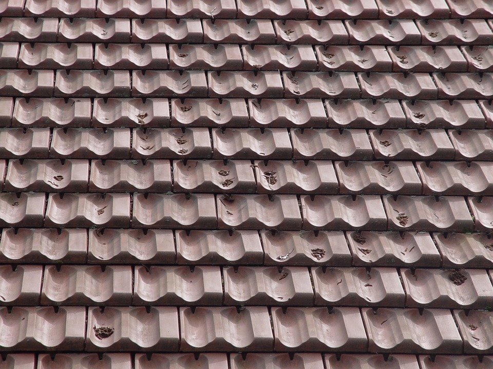 how to draw the tiled roofs