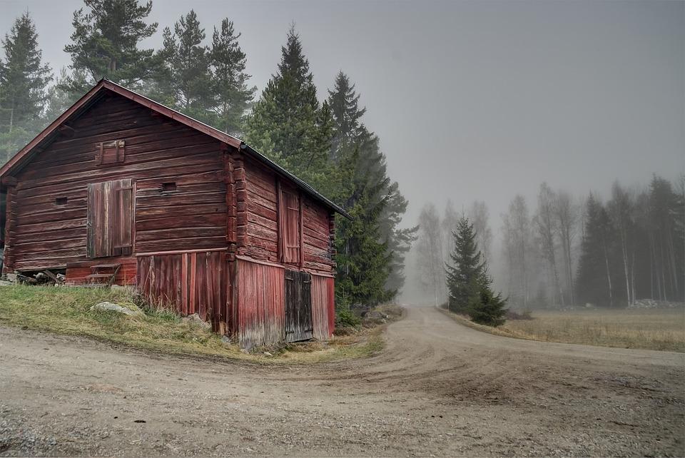 Free Photo Sweden Red Barn Landscape Free Image On