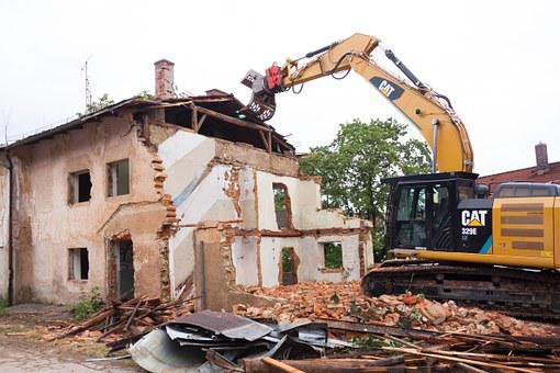 Demolition Collapse Broken Building Rubble