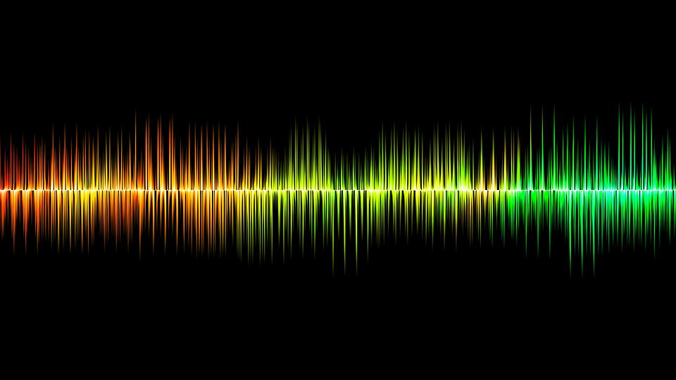 サウンド, 波, 音声, 聞く, Digitalkunst