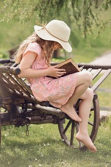 Person, Human, Child, Girl, Hat, Book