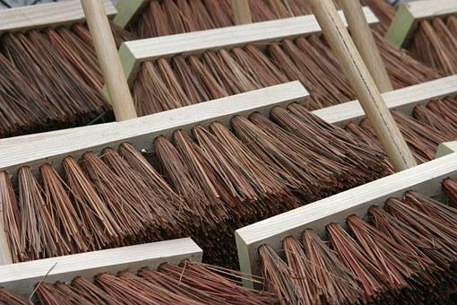Brooms, Close Up, Sweep, Wooden