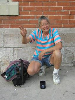 Homeless Woman Poverty Social Justice Food