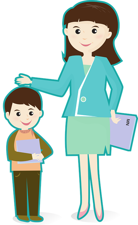 Image result for teacher student clipart