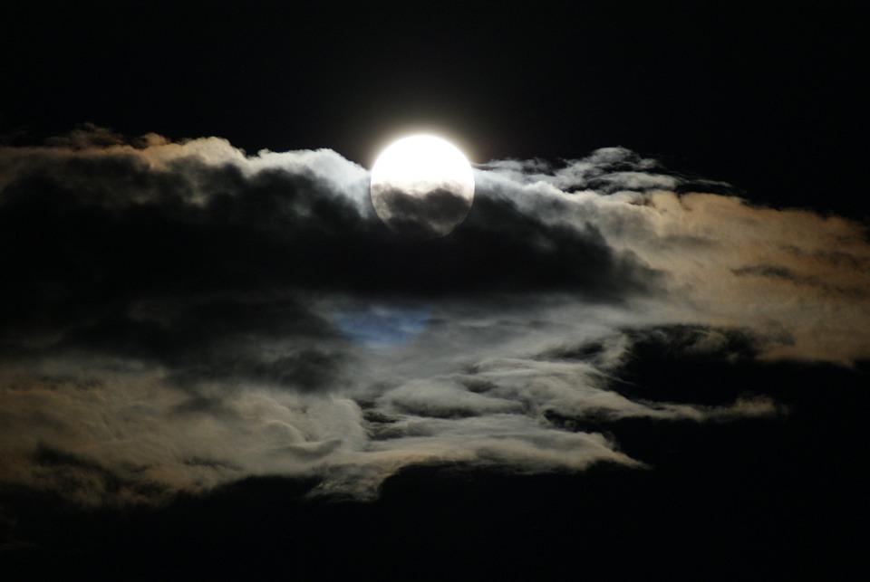 Très Photo gratuite: Lune, Nuages, Pleine Lune, Nuit - Image gratuite  DR08