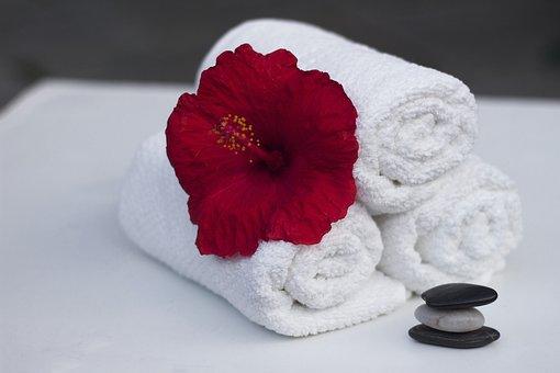 Handtuch, Hibiskus, Sauber, Pflege