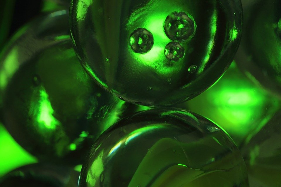 Green Glass Marble : Free photo marbles green glass balls image on