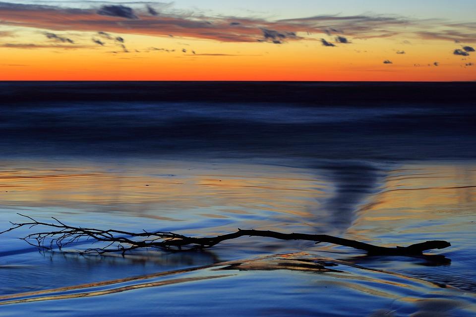 Bałtyk, Baltic, Wybrzeże, Plaża, Zmierzch