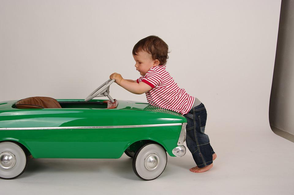Child, Toy, Children'S Car, Baby, Boy, Push,jump start car