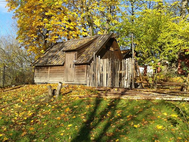 photo gratuite bois cabane des for ts automne image gratuite sur pixabay 863115. Black Bedroom Furniture Sets. Home Design Ideas