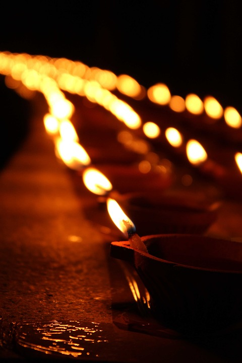 free photo candles night diyas diwali free image on