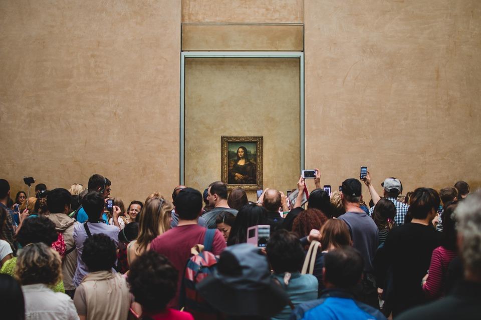 Da Vinci, Louvre, Mona Lisa, Gülümseme, Fransa, Paris
