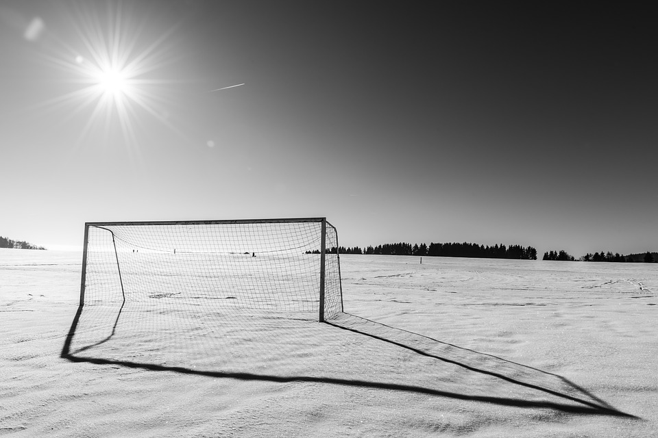 Goal, Score, Football, Soccer, Winter, Cold