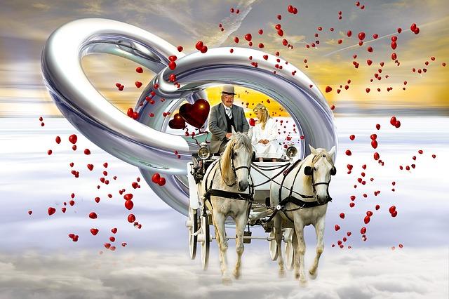 free illustration wedding coach love heart marry